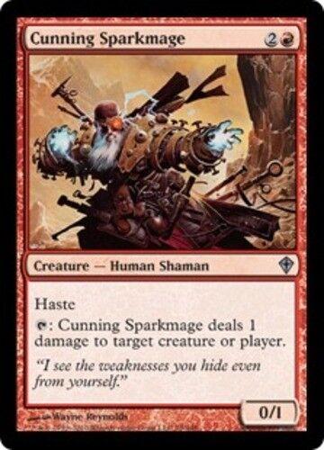 4x Cunning Sparkmage NM-Mint English Worldwake MTG Magic