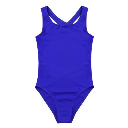 Girls Kids Short Sleeve Leotard Children Sport Dance Ballet Gymnastics Jumpsuit