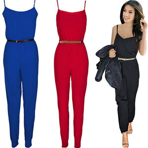 Sexy-Damen-Jumpsuit-Overall-Haremshose-Sommeroverall-34-36-38-40-42-NEU-BC113