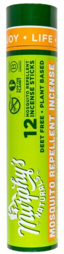 Mosquito Repellent Incense Sticks 12 Pack Murphy's Naturals