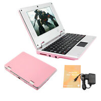 """7"""" 7 inch NETBOOK MINI LAPTOP WIFI ANDROID 4.4 8GB 1.5GHz NOTEBOOK PINK Tablet"""
