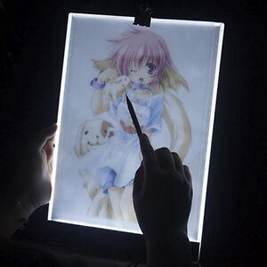 A3//A4 LED Tracing Light Box Drawing Tattoo Board Pad Table Stencil Artist USA