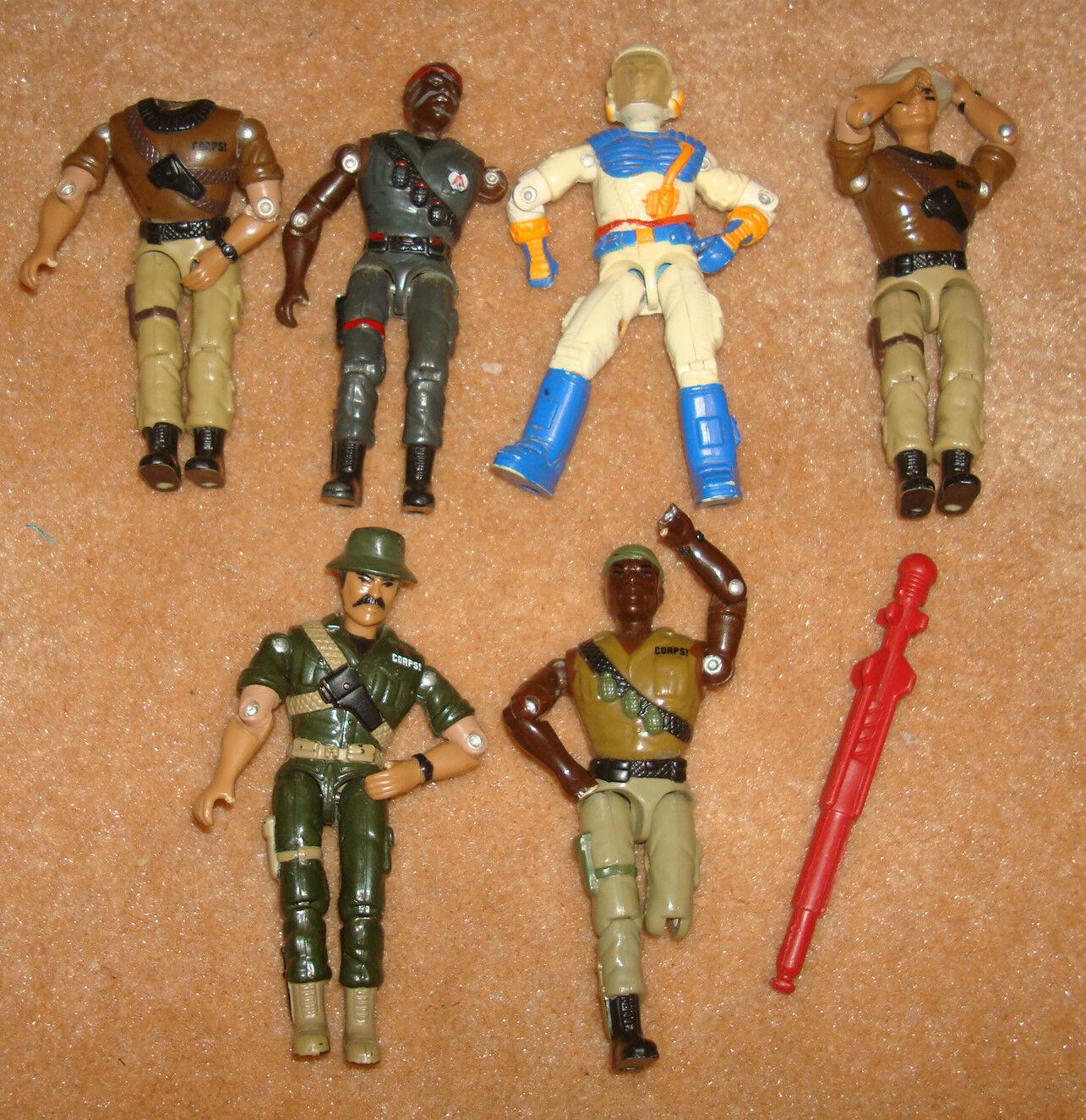 precio razonable Vintage Años 80 Gi Joe Tamaño Tamaño Tamaño Figura De Acción Chap Ejército Militar Lote 6 1980 y 1990, Partes  mejor servicio
