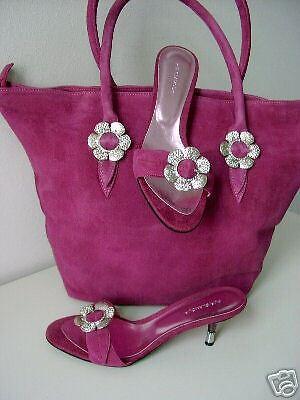 Unikat von PUR GLAMOUR Mule Pumps pink fuchsia Gr. 38 Sandales schuhe