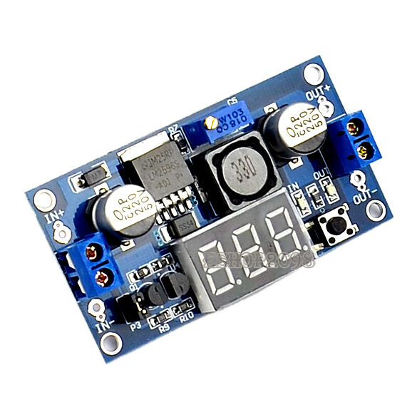 1 PCS LM2596 Power Step-down Module DC 4.0~40 to 1.3-37V + LED Voltmeter EP98