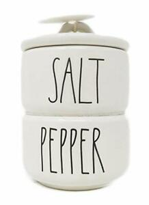 Rae-Dunn-Artisan-Collection-by-Magenta-Stacked-Salt-amp-Peppers-In-Large-Letters