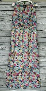 Savage-Women-039-s-Maxi-Long-Floral-Summer-Sleeveless-Dress-Size-L-Multi-Color