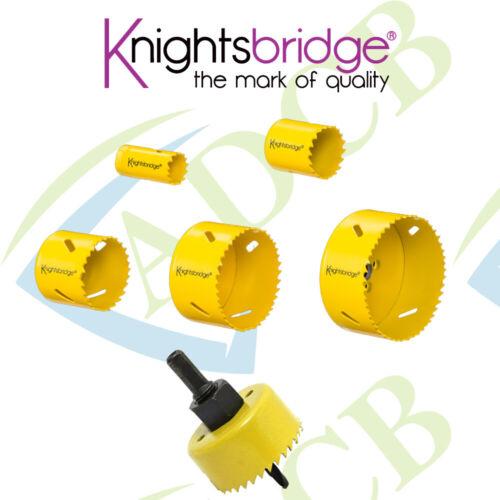 Knightsbridge Yellow Bi-Metal Holesaw 20mm 25mm 32mm 51mm 70mm 90mm Drill Tool