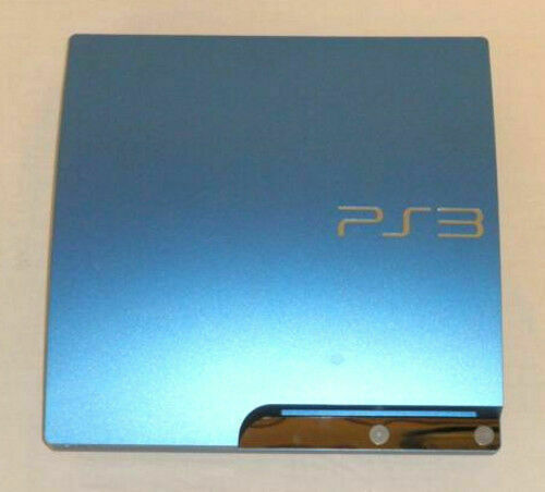 Sony Playstation 3 Slim Launch Edition 320gb Splash Blue Console For Sale Online Ebay