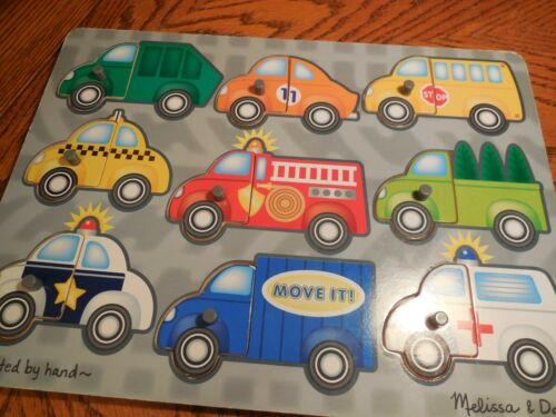 Milissa & Doug Fresh Start Peg Puzzle Mix & Match Vehicles