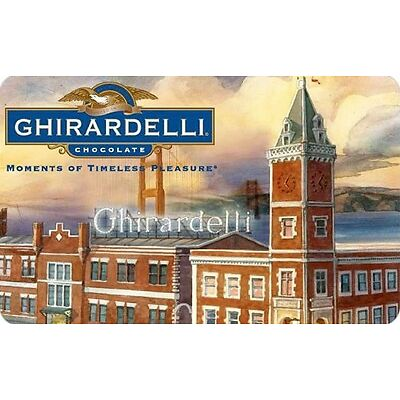 Ghirardelli Chocolate Gift Card - $25 $50 $100 - Email delivery
