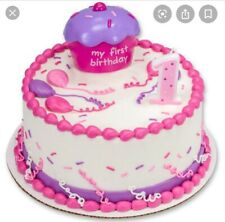 First Birthday Candle,#1,Pink,Girl,Bakery Crafts//DecoPac,Wax Cake Decoration