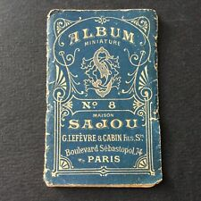 SAJOU - Album n°8 Miniature Alphabet Couture Mercerie Sewing Embroidery 1900