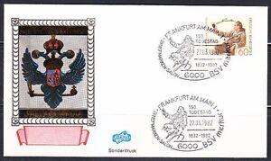 Germany-1982-cover-Goethe-amp-150-todestag-Briefmarken-Salon-BSV-Merkur-Writer-SST