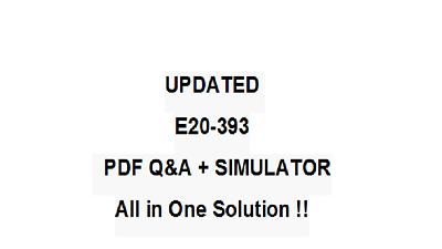 EMC Practice Test E20-390 Exam QA PDF/&Simulator