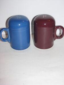 Image is loading Fiesta-Dinnerware-Rangetop-Salt-Pepper -Fiestaware-Lapis-blue- & Fiesta Dinnerware Rangetop Salt Pepper Fiestaware Lapis blue ...