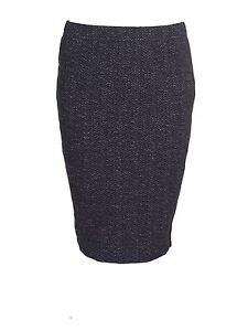 The-Masai-Clothing-Suzette-black-and-grey-zig-zag-straight-fitted-skirt-size-M