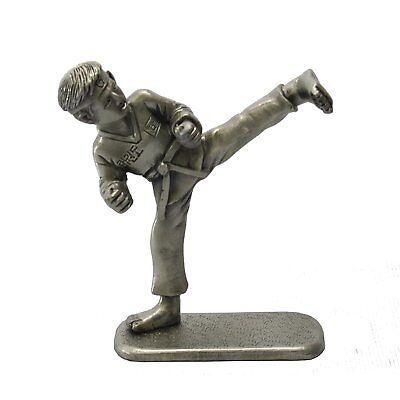 Taekwondo Kick Figurines Korean Folk Martial Arts Pewter Sculpture Statue Gift