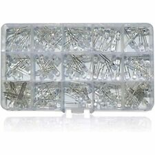 150pcs 5mm Led Light Emitting Diode Colors X 10pcs Lamp Assortment Set Kit Fla