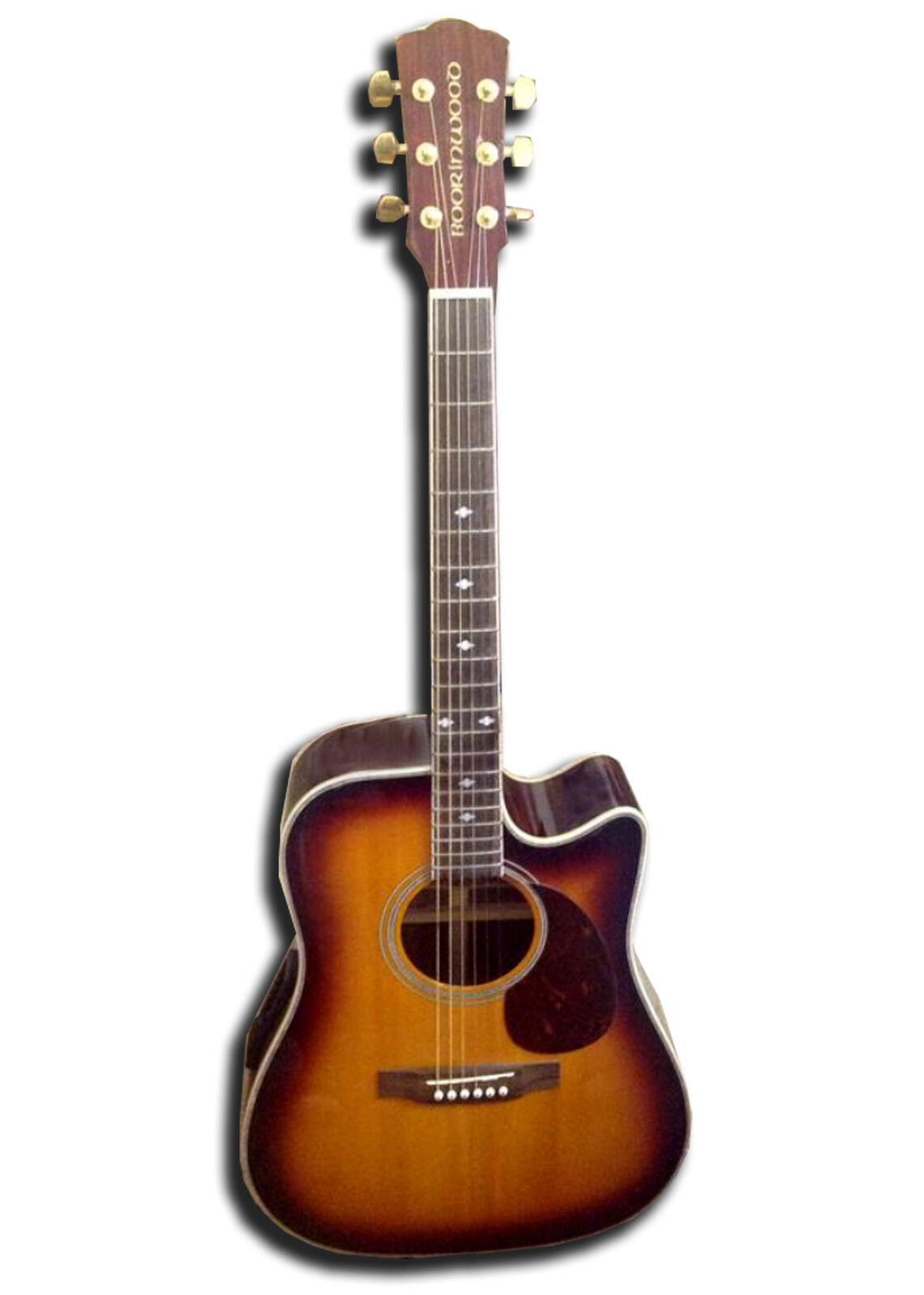 New Boorinwood SDC130SE Semi Acoustic Guitar Sunburst