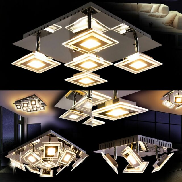 LED Deckenleuchte Lochristi Wohn Schlaf Raum Zimmer Flur Büro Diele Küche Lampe