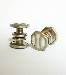 - Art Deco Silver Tone & Mother-of-pearl Cuff Links - C.1925 U.s Fre-dau Co
