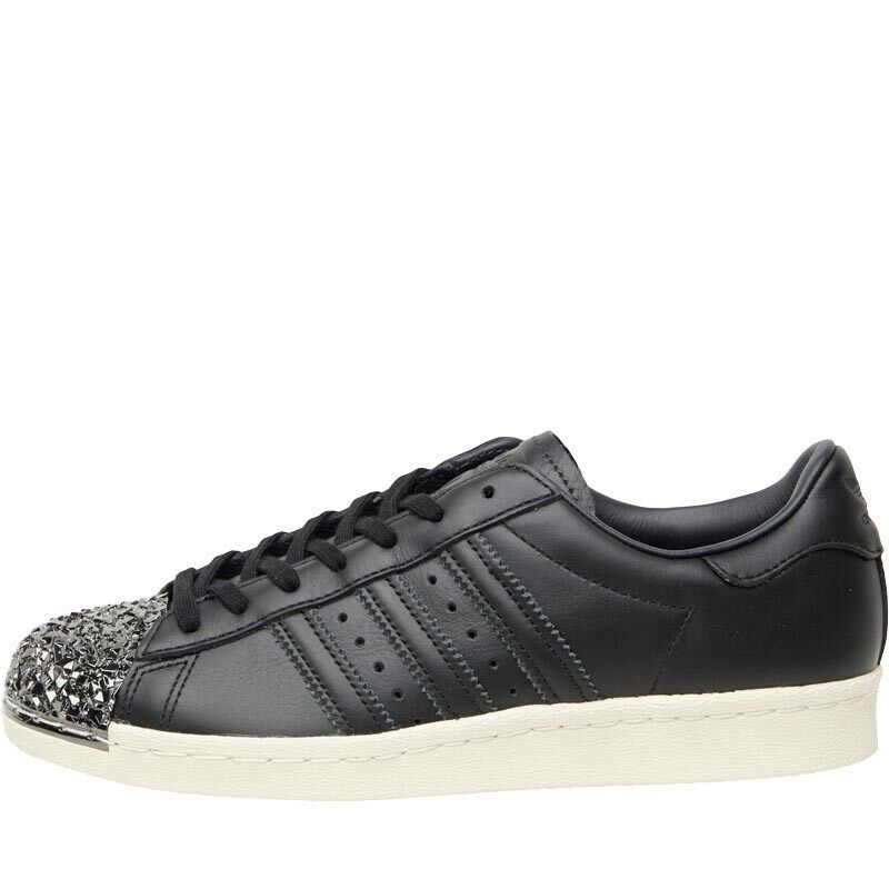 Femmes Adidas Originals Superstar 80 S 3D metal toe Baskets-Noir