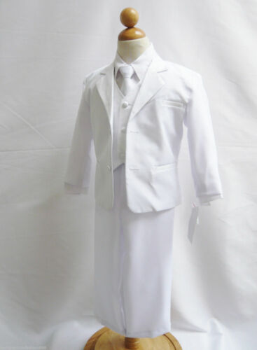SPECIAL OFFER BOYS WHITE FANCY FORMAL SUIT with FREE COLOR TIE for ALL OCCASION