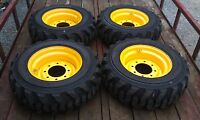 4 10-16.5 Tires Rims/wheels For Holland, John Deere, Mustang -10x16.5