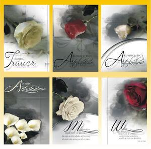 50 Trauerkarten Trauerkarte Trauer Beileidskarten Kondolenzkarten 813195 HI
