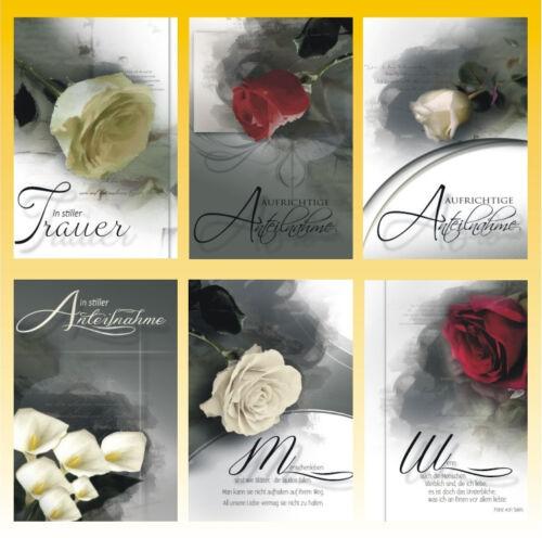 50 Trauerkarten Trauerkarte Trauer Beileidskarten Kondolenzkarten 811879 HI