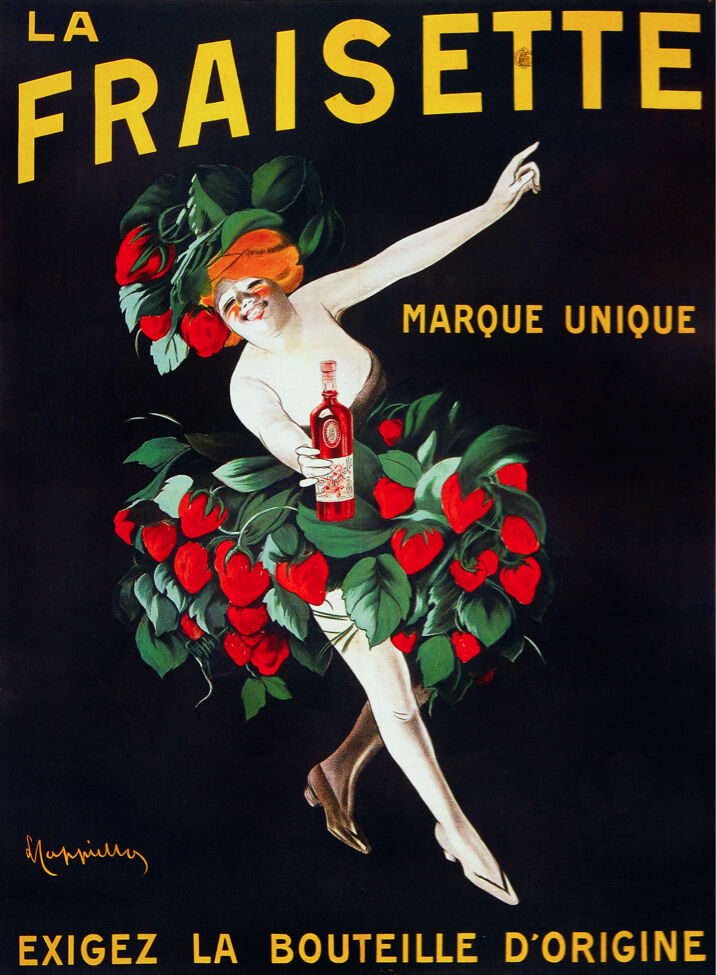 6407.La Fraisette Marque unique POSTER.French Wall Art Decor.Interior design
