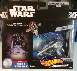 2018-Hot-Wheels-Star-Wars-Boba-Fett-039-s-Slave-I-5-of-9-commemorative-series-MIB