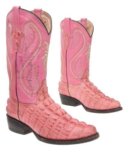CUSTOM Cowboy Boots 6.5 M Mens Pink EXOTIC Alligat