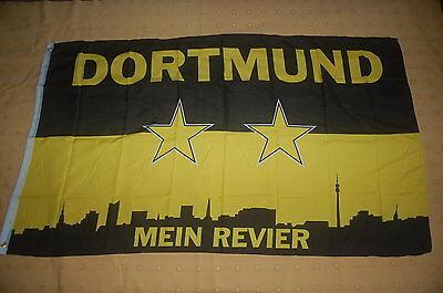 Praktisch Dortmund Mein Revier Silhouette Flagge Fahne Hißflagge Hissfahne 150 X 90 Cm Eine GroßE Auswahl An Modellen