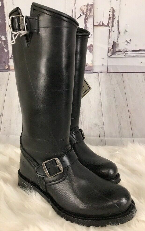 New FRYE Boots Shearling Lined ENGINEER Buckle     3476663 NWOB 6.5 Moto b7d58c