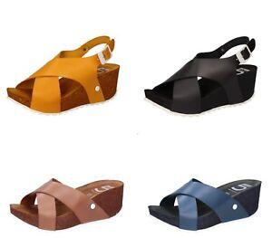 5-PRO-JECT-sandali-scarpe-donna-in-pelle-Giallo-Nero-Marrone-Blu-Estate