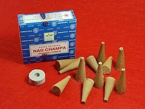 """Incienso Conos """"nag Champa"""" Satya / Incense Cones """"nag Champa"""" Satya"""