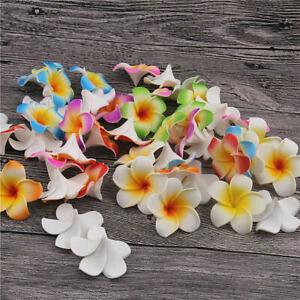 "2/"" Hawaiian Frangipani Foam Plumeria Bulk Small Artificial Flower Heads-10//20Pcs"