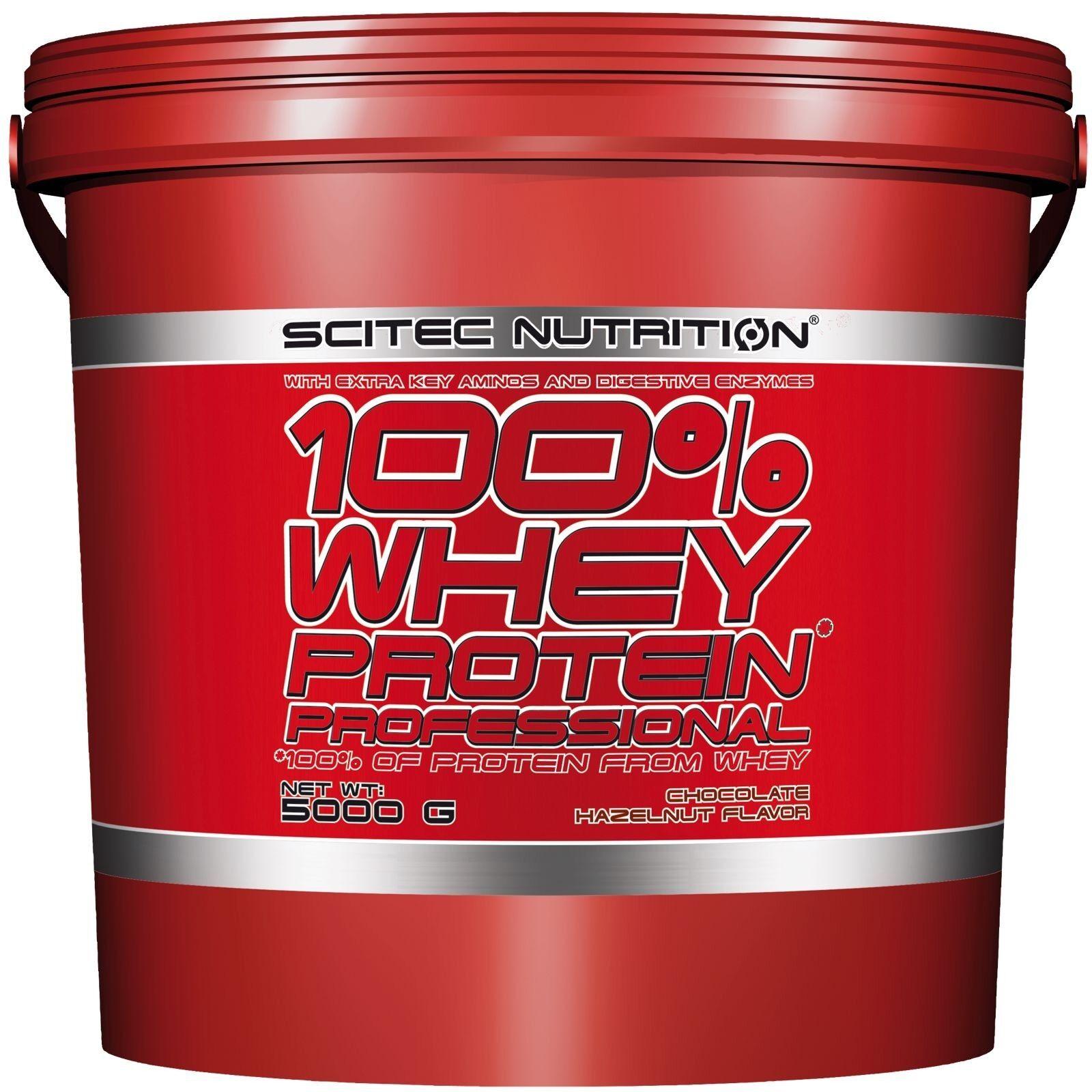 SCITEC NUTRITION 100% Whey Protein Professional 5 del Kg Proteine Siero del 5 Latte 9679b9