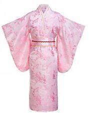Yukata Women's Gorgeous Japanese Traditional Brocade Plum Blossom Kimono Robe,
