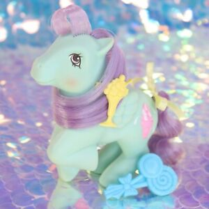Vintage-My-Little-Pony-Sundae-Best-PEPPERMINT-CRUNCH-Clip-Brush-G1-MLP-BH907