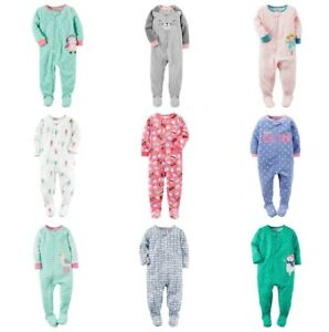 NWT Carters Toddler Girl's Footed PJ Blanket Sleeper 1-Piece Pajamas 2T 3T 4T 5T