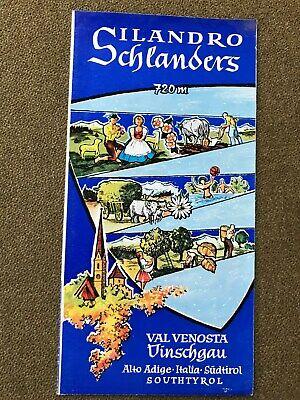 Brochure Di Viaggio,silandro Schlanders,val Venosta Vinschgau 1960,reiseprospekt