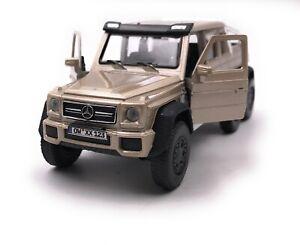 Mercedes-Benz-G63-6x6-AMG-Dore-Modele-Avec-Wunschkennzeichen-Masstab-1-3-4
