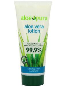 aloe pura aloe vera lotion with shea butter vitamin e 200ml dry skin sunburn ebay. Black Bedroom Furniture Sets. Home Design Ideas