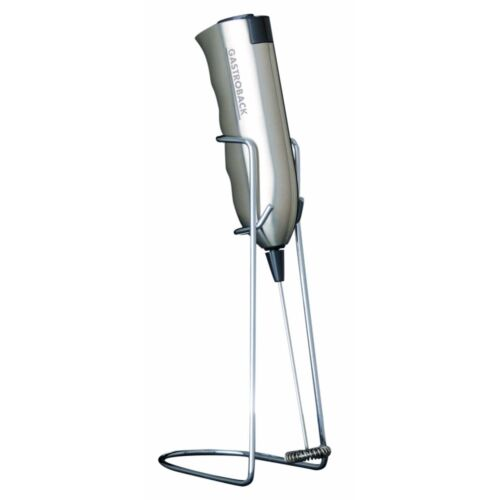 GASTROBACK 42219 Latte Max Acier Inoxydable Milchaufschäumer fonctionnement sur batterie standfu
