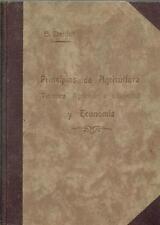 Principios de agricultura técnica, agrícola e industrial, y economía