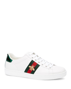 ae064d374f7 GUCCI Women Ace Embroidered Leather Sneakers BRAND NEW Size US 8.5US ...