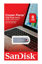 New SanDisk 8GB Cruzer FORCE USB 2.0 Flash Pen Thumb Drive SDCZ71-008G-B35 8 G B